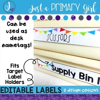 ~*Editable Labels  - WHITE & {Editable}