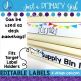 Editable Labels  - WHITE Editable