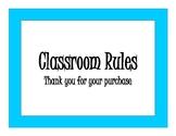 #Classroomrules