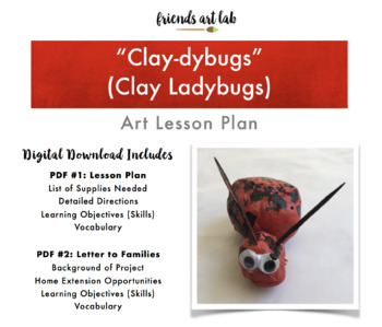 """""""Clay-dybug"""" (Clay Ladybug) Lesson Plan - Connecting Art & Science - Hands-On"""