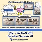 -Cle + Prefix/Suffix Syllable Division Kit