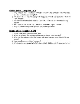"""""""Clementine"""" - Discussion Questions and Quiz"""