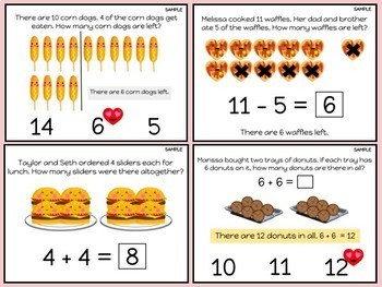 "Digital Math Center: Click and ""Chews"" Grade 1.OA.A.1"