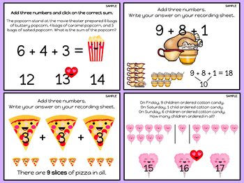 "Digital Math Center: Click and ""Chews"" Grade 1.OA.A.2"
