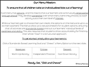 "Digital Math Center: Click and ""Chews"" Grade 1.OA.D.7"