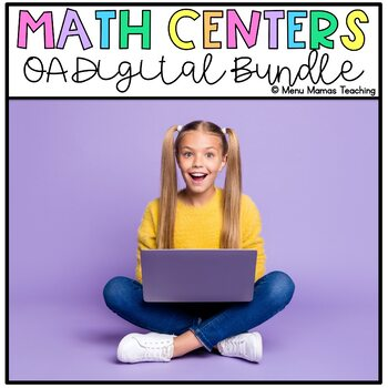 "Math Menu: Click and ""Chews"" Grade 1 Operations and Algebraic Thinking BUNDLE"