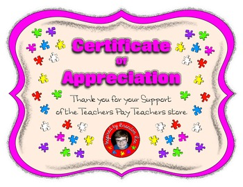 ! ClipArt and Resources Store Support Certificate ~ Inspir