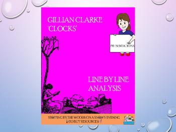 'Clocks' by Gillian Clarke: an analysis