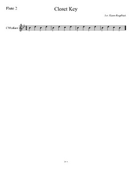 """Closet Key"" Multi-level beginner band arrangement"