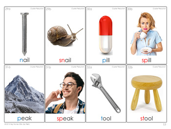 MINIMAL PAIRS Photo Flash Cards *Cluster Reduction*