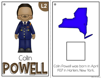 { Colin Powell } Black History Month Adapted Book Set