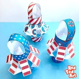 (Color) American Flag Lantern Craft for Memorial Day, Flag