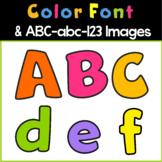 Color Font | Bulletin Board ABC Clipart | Bubble Kids