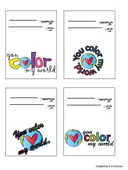"""Color My World"" Valentines Card"