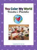 """""""Color My World"""" Valentines Card"""