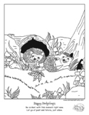 """""""Color Your Emotions"""" Happiness coloring book page for soc"""