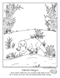 """""""Color Your Emotions"""" Pessimistic Platypus Coloring Page for SEL"""