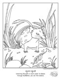 """""""Color Your Emotions"""" Quiet Quoll Coloring Page for Mental"""