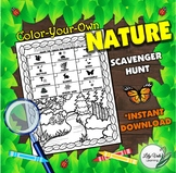 **Color-Your-Own NATURE SCAVENGER HUNT-from LilyVale Learning**