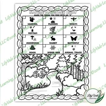 **Color-Your-Own NATURE Scavenger Hunt**from LilyVale Learning