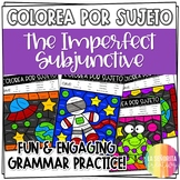 ¡Colorea por Sujeto! Imperfecto del Subjuntivo - Spanish verb coloring activity