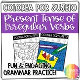 ¡Colorea por Sujeto! Irregular Present Verbs - Spanish verb coloring activity