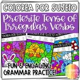 Irregular Preterite Verbs Worksheets | Spanish verb colori