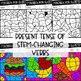 Stem-Changing Present Tense Verbs Worksheets - Spanish verb coloring activity