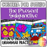 Present Subjunctive Verbs Worksheets - Spanish verb coloring activity