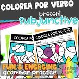 ¡Colorea por Sujeto! Presente del Subjuntivo - Spanish ver