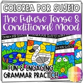 ¡Colorea por Sujeto! el Futuro y el Condicional - Spanish verb coloring activity