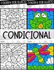 Future and Conditional Verbs Worksheets - Spanish verb coloring activity