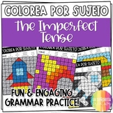 Imperfect Tense Worksheets - Spanish verb coloring activity