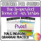 Imperfect Tense Worksheet Regular AR Verbs - FREE Spanish verb coloring activity