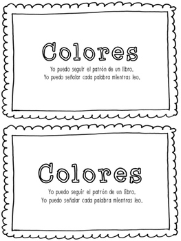 'Colores' Spanish Tracking Mini Book