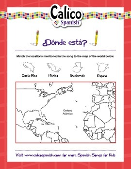 ¿De dónde eres tú? - Music Video & Activities Pack to teach locations in Spanish