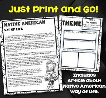 """Colors of the Wind"" Native American Close Read with Song Lyrics- Grades 3-6"