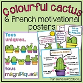 {Colourful Cactus French motivational posters!} 6 printabl
