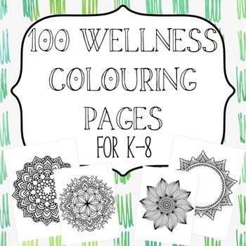 *Bundle*100 Wellness Colouring Sheets