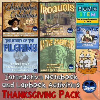 {Columbus - Iroquois - Pilgrims - Native Americans} Thanksgiving 4-Pack
