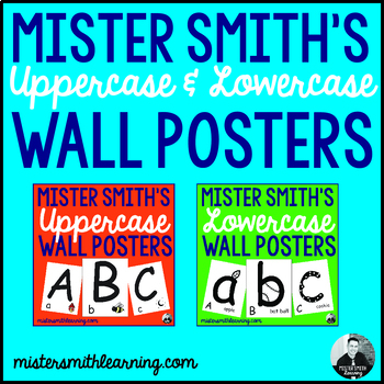 *Combo* Uppercase and Lowercase Wall Posters (52 pages) *PDF File*