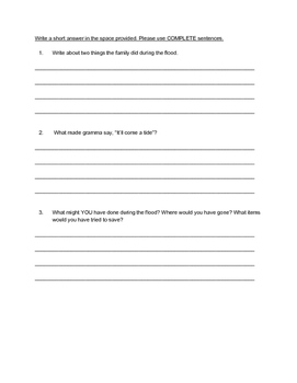 """""""Come A Tide"""" QUIZ - Spotlight On Literacy (Book Two - Level 7)"""
