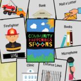 """""""Community Happenings"""" Spoons Card Game"""
