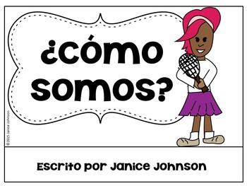 ¿Cómo Somos? Spanish Verb Ser Adjective Reader & Build-A-Book