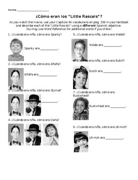 """¿Cómo eran los """"Little Rascals""""? Movie Guide with Imperfect and Childhood Vocab"""