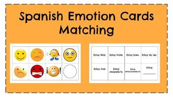 ¿Cómo estás? Estoy...  Emotion Matching Cards in Spanish