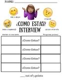 ¿Cómo estás? Interview worksheet