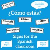 ¿Cómo estás? Spanish feelings signs