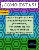 ¿Cómo estás? - building rapport and fluency (Int-Adv)