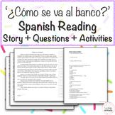 '¿Cómo se va al banco?' Spanish Directions Reading with Questions & Activities!